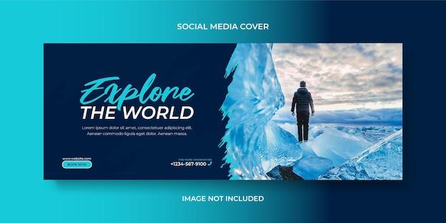 Visite et voyage des médias sociaux ou de la couverture facebook