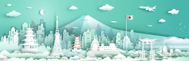 Visitez le japon avec architecture en voilier et avion.
