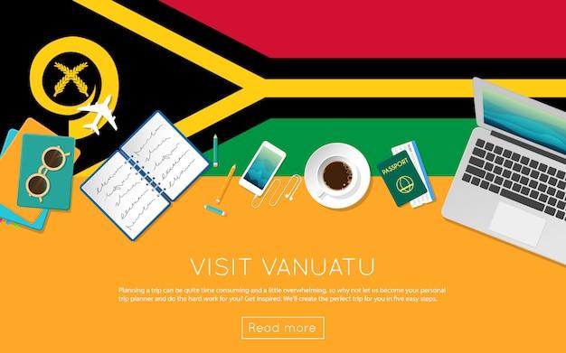 Visitez vanuatu concept pour votre bannière web