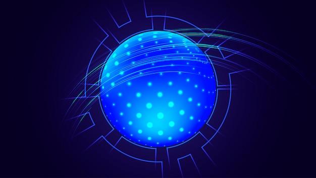 Visualisation big data. fond futuriste.
