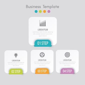 Visualisation de données commerciales. diagramme de processus