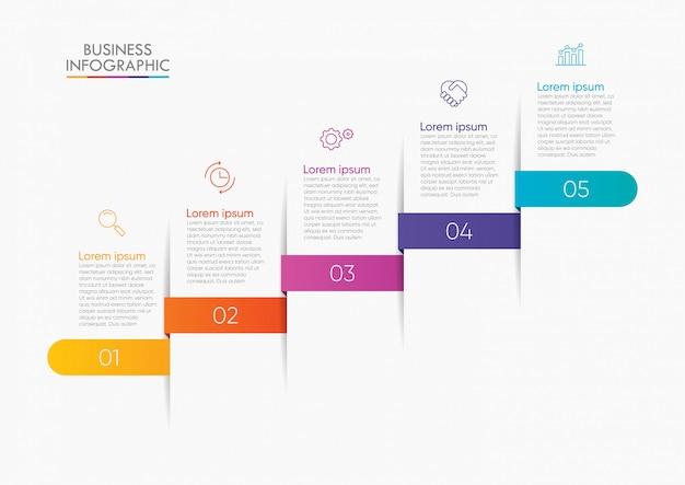 Visualisation de données commerciales. modèle d'infographie de la chronologie