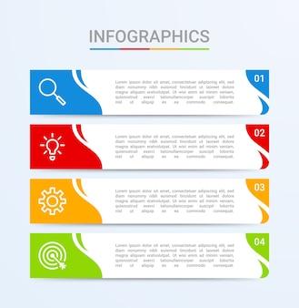 Visualisation de données commerciales, modèle infographique