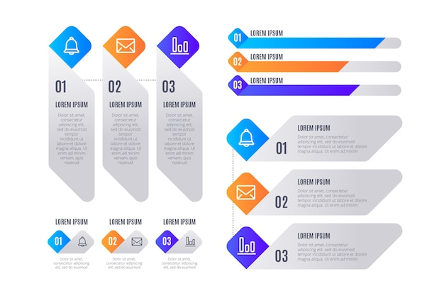 Visualisation des données marketing d'entreprise avec des éléments