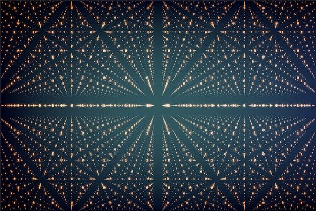 Visualisation de données vectorielles infini. structure de données volumineuses avec treillis de nombres binaires. représentation de tableau de code d'information. analyse cryptographique. transfert de blockchain bitcoin.