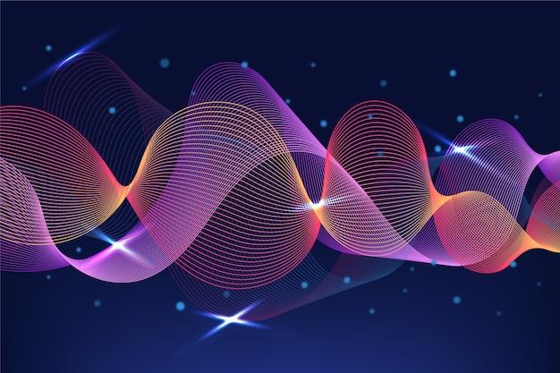 Visuel de l'arrière-plan de l'égaliseur des ondes sonores