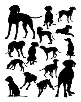 Viszla hongrois chien silhouette d'animaux