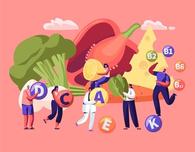 Vitamines dans les produits infographique