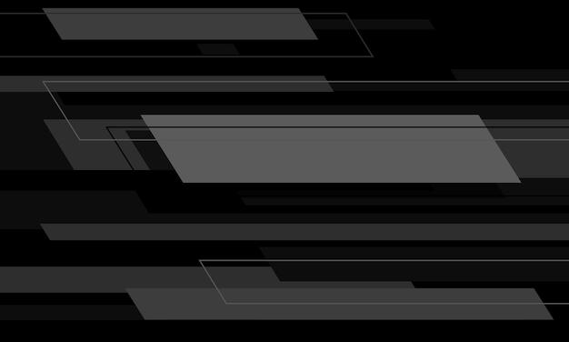 Vitesse géométrique abstraite de technologie grise sur le noir avec la conception futuriste moderne d'espace vide