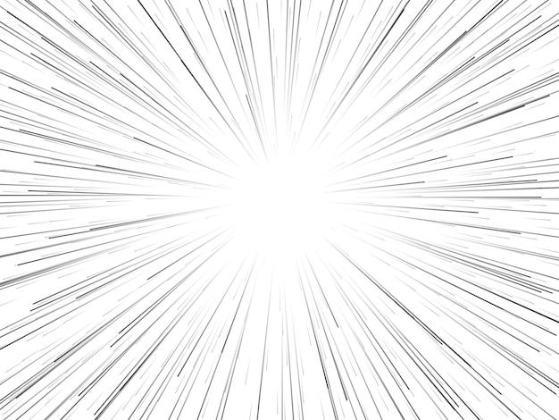 Vitesse spatiale. lignes ou rayons dynamiques abstraites en étoile.