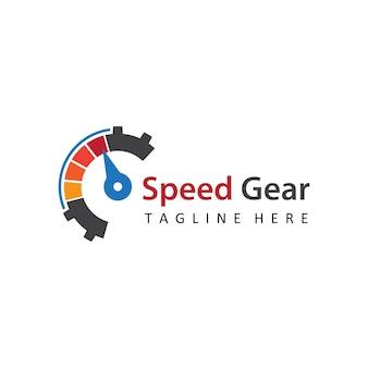 Vitesse vitesse auto motif logo modèle vecteur de conception