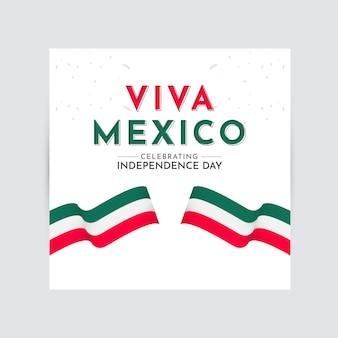 Viva mexico independence day célébration modèle vectoriel conception logo illustration