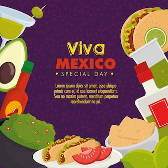 Viva mexico. jour de la fête des morts avec de la nourriture