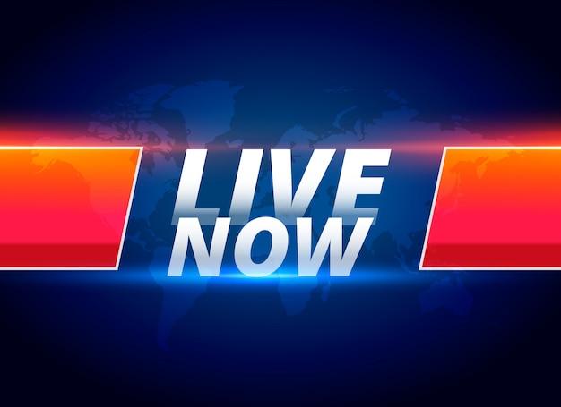 Vivre maintenant en streaming fond de nouvelles