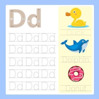 Vocabulaire de dessin animé d'exercice d