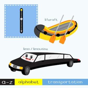 Vocabulaire de transport de la lettre l en minuscules