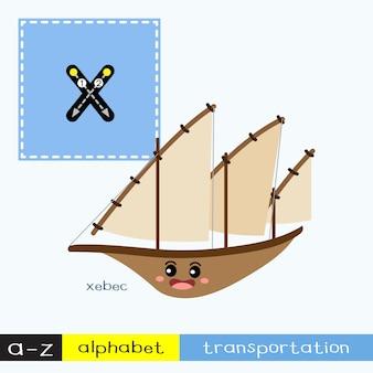Vocabulaire de transport de la lettre x en minuscules