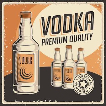 Vodka signage retro rustic classique