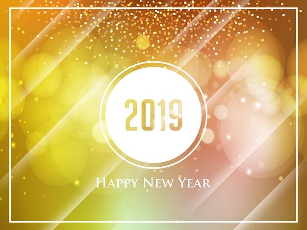 Voeux de nouvel an avec fond bokeh