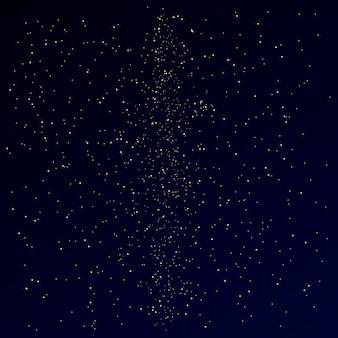 Voie lactée sur le ciel étoilé de la nuit. étoiles fond sombre.
