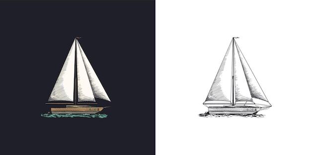 Voilier en mer aventure estivale vacances actives navire de mer navire marin ou caravelle nautique