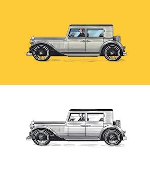 Voiture ancienne pour enseigne de service vieux transport rétro old school auto véhicule américain classique