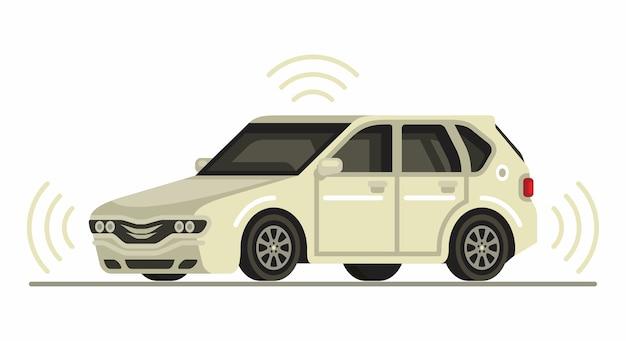 Voiture autonome autonome conduite sans conducteur