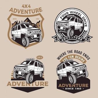Voiture d'aventure à quatre roues motrices