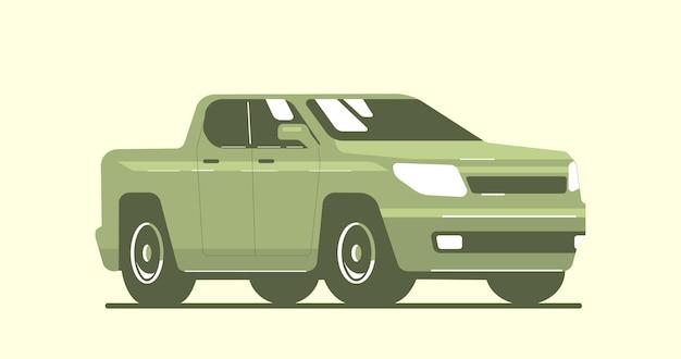 Voiture De Camionnette Isolée. Illustration De Style Plat De Vecteur. Vecteur Premium