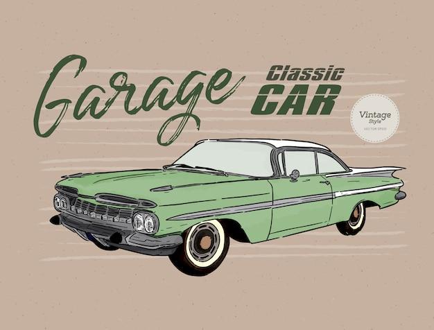 Voiture classique, style vintage