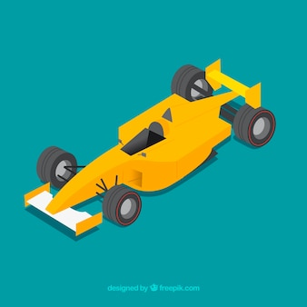 Voiture de course de formule 1 avec un design plat