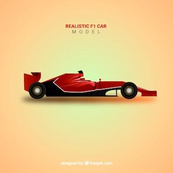 Voiture de course de formule 1 avec un design réaliste