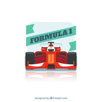 Voiture de course de formule 1 moderne avec un design plat