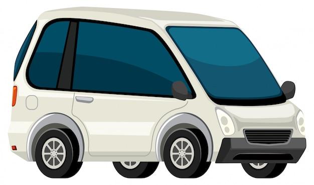 Une voiture électrique blanche