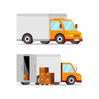 Voiture de livraison sous différents angles