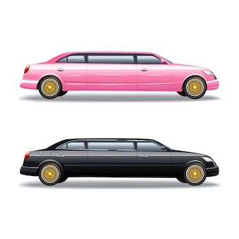 Voiture de luxe en limousine