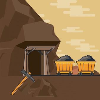 Voiture minière complète