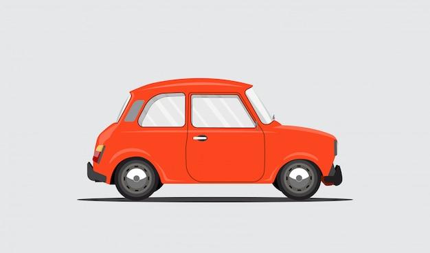 Une voiture pour les voyages, les loisirs, la location, la famille, le road trip. belle voiture sur fond blanc isolé