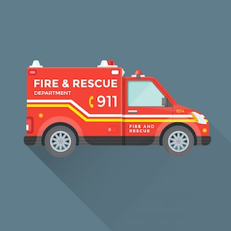 Voiture de secours du service d'incendie