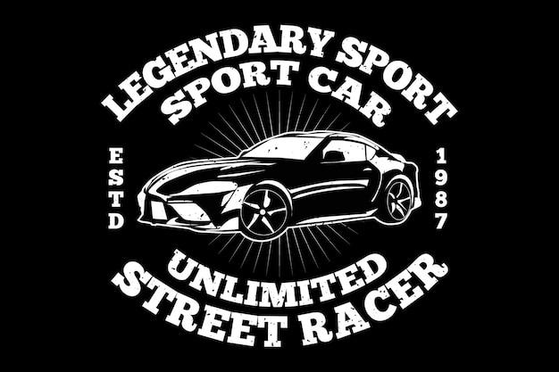 Voiture de sport course légendaire vintage