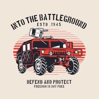 Voiture de véhicule militaire