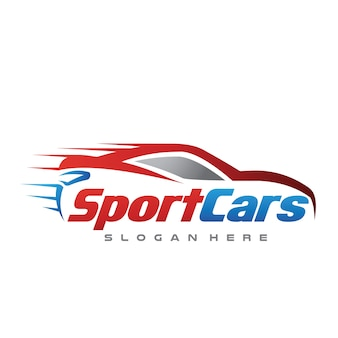 Voiture et vitesse automobile logo vector illustration