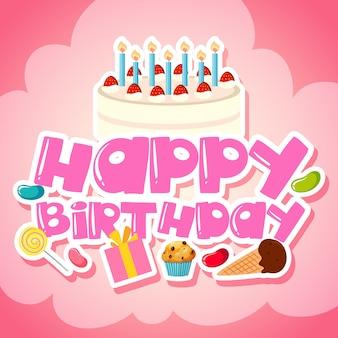 Voiture de voeux joyeux anniversaire