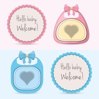 Voitures de douches de bébé et conception de décorations emblème