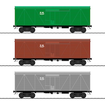 Voitures de trains de marchandises. wagon.