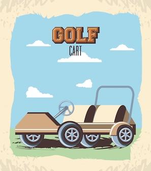 Voiturette de golf dans le club