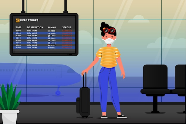 Vol annulé avec passager et bagages