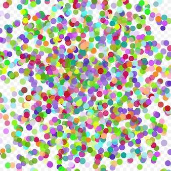Vol coloré tombant les éléments de décoration de l'abstrait de célébration avec falli...