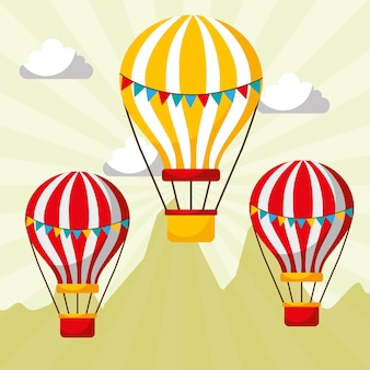 Voler des ballons à air chaud carnaval fun festival de la foire