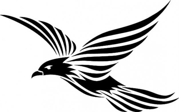 Voler conception oiseau tribal